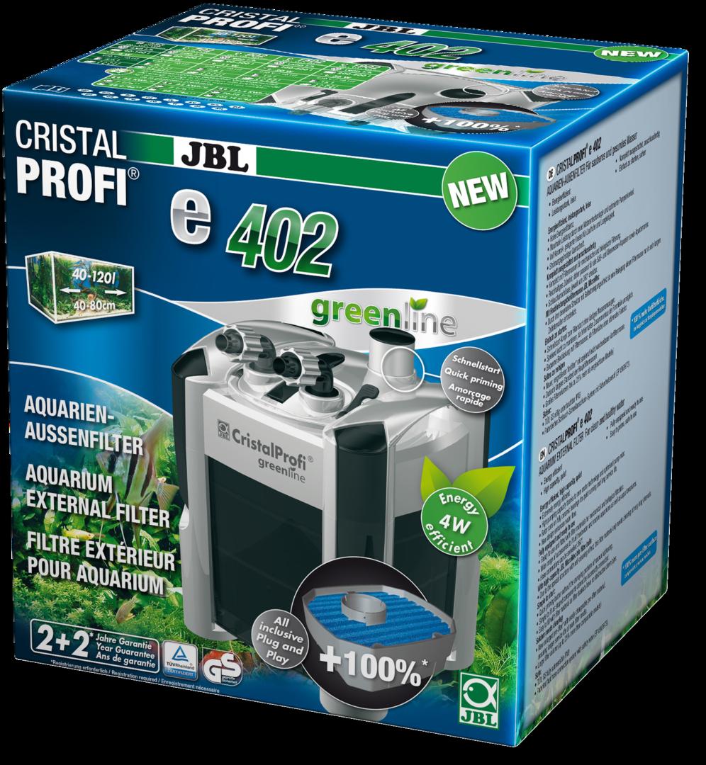 JBL CristalProfi e402 greenline Außenfilter für Aquarien von 40 - 120 Litern